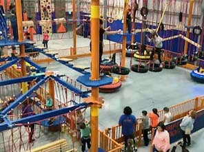 high ropes, ropes course, adventure playground, playground equipment