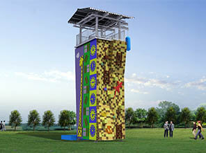 adventure tower, climbing tower, challenge tower, climbing wall