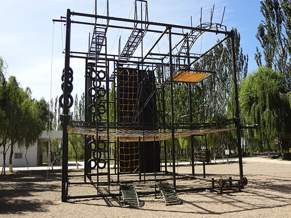 military training equipment, ropes course, climbing wall