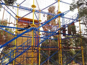 outdoor ropes course, high ropes course construction