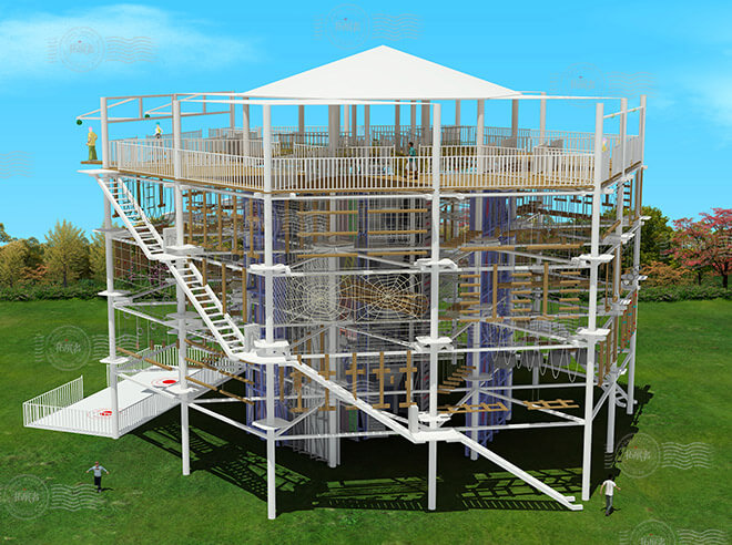 challenge course, aerial obstacle course, adventure park ropes course, zipline adventure course