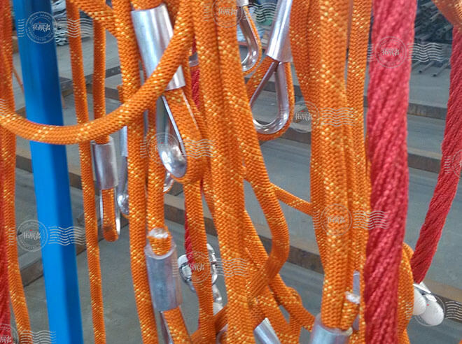 indoor adventure ropes Course, indoor high ropes course, indoor playground equipment