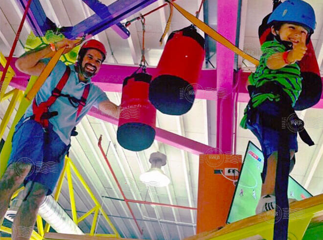 adventure ropes course, high ropes obstacle course, high low ropes, rope obstacle course
