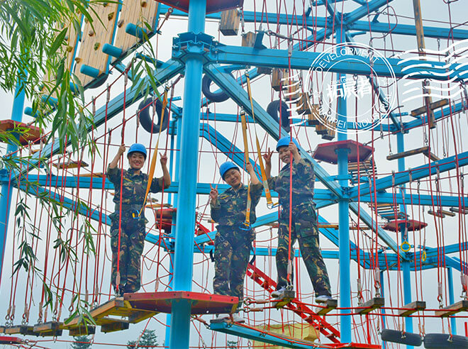 aerial ropes course, high ropes challenge course,high ropes adventure, aerial adventures