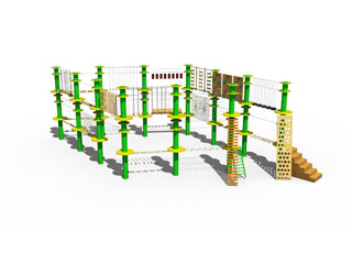 2-layer Wire-system Adventure Ropes Course