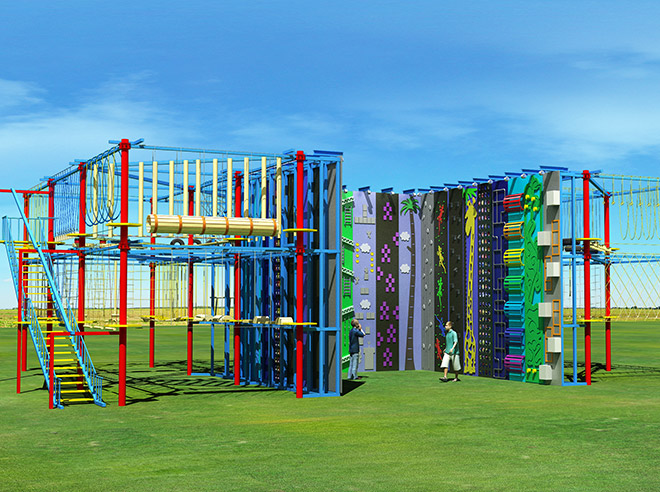 high ropes course builders, climbing wall, ropes course supplies, ropes course manufacturer