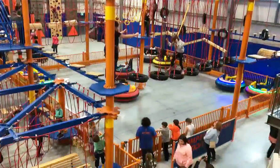 Ropes Course,Playground Equipment, Adventure Playground, High Ropes, Family Entertainment Center