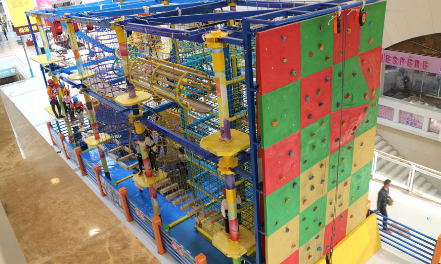 Indoor Playground Equipment, children's adventure playground equipment, children's aerial ropes