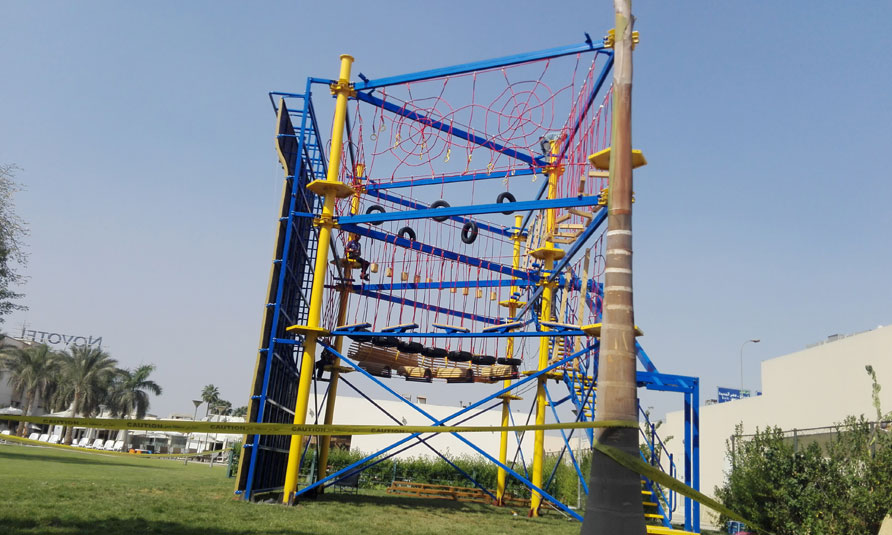 Outdoor High Rope Challenge Course Based in Egypt