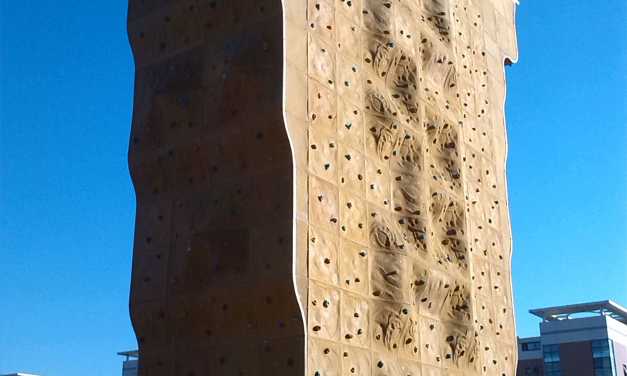 Outdoor Rock Climbing Wall in Beijing Geely University, artificial rock climbing wall