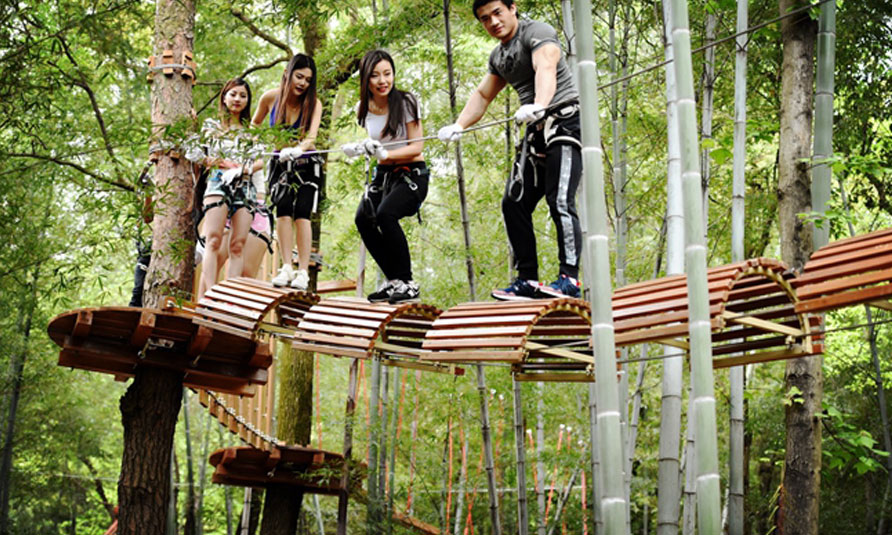 [!--Tree Tops Ropes Course, tree top adventure park, treetop challenge--]