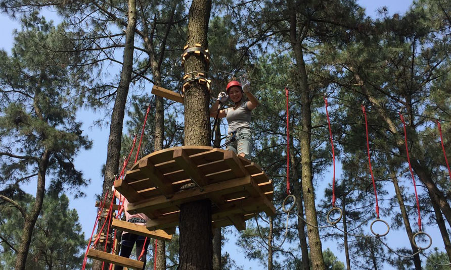 [!--Treetop Challenge Course in China Bamboo Expo Park--]