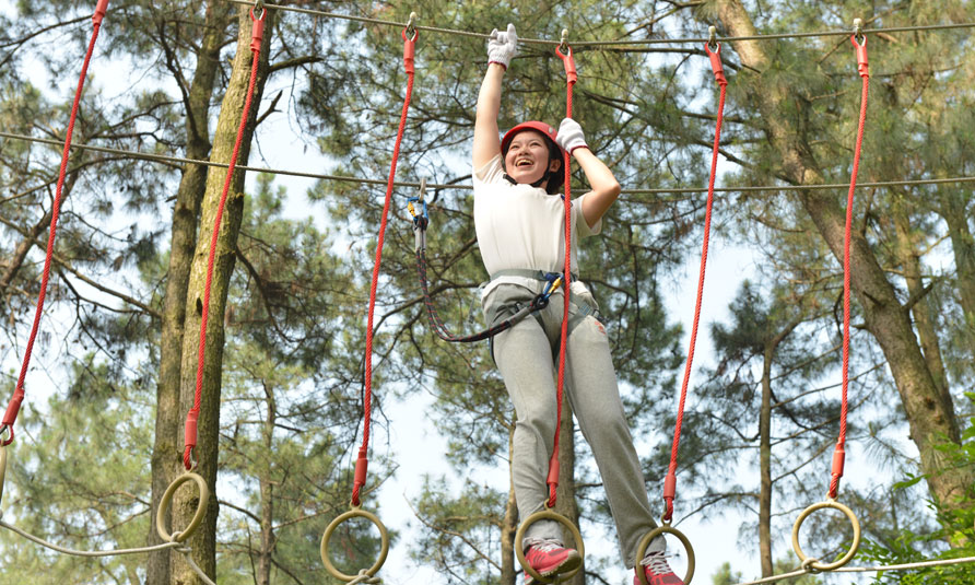 Treetop Challenge Course in China Bamboo Expo Park
