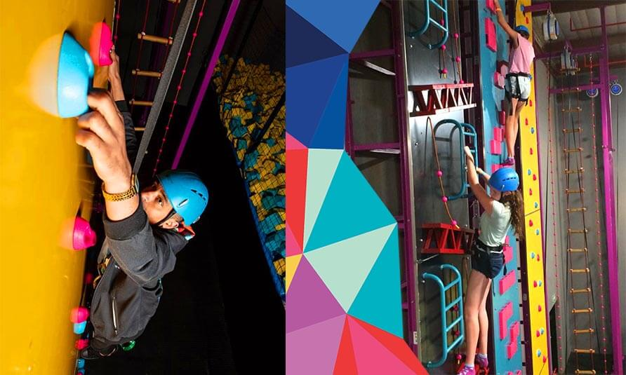 South Africa Indoor Climbing Wall, kids climbing wall, trampoline park climbing wall