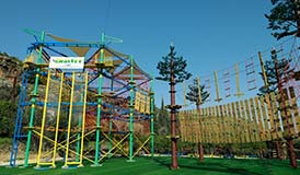 [!--obstacle course, advenure park, rope park, camp, high ropes course--]