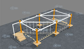 [!--Indoor Ropes Course, ropes playground, playground equipment, obstacle course--]