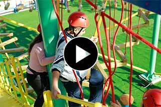 obstacle course, advenure park, rope park, camp, high ropes course