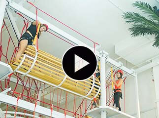 Singapore Indoor High Ropes Course, playground equipment
