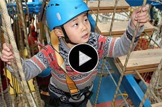 Indonesia Indoor Ropes Course, ropes playground, playground equipment, ropes course design